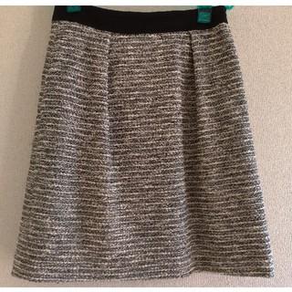インディヴィ(INDIVI)の美品♡indivi ツイードスカート 40(ひざ丈スカート)