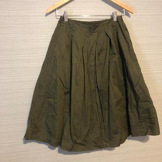 ジーユー(GU)のgu カーキスカート(ひざ丈スカート)
