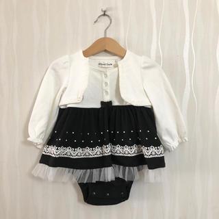 しまむら - 【未使用】フォーマル ドレス風 カバーオール 女の子 80サイズ