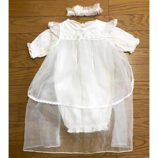 薄ピンク ベビードレス セレモニードレス(お宮参り用品)