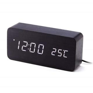 LEDデジタル表示 置き時計 ブラック(掛時計/柱時計)