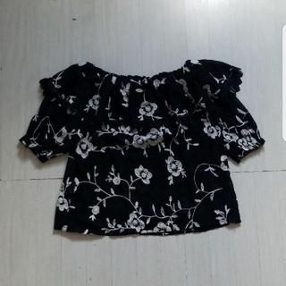 スピーガ(SPIGA)の花柄 刺繍(カットソー(半袖/袖なし))