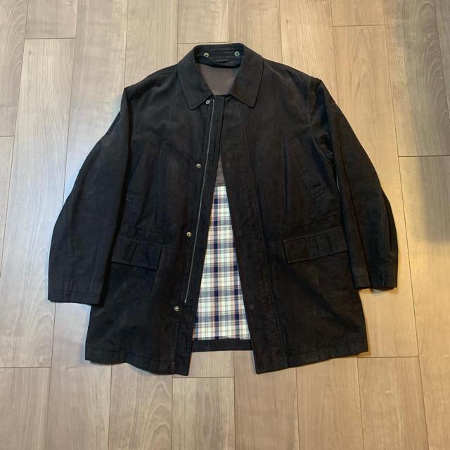 Saint Laurent(サンローラン)のyves saint laurent スエードコート ワイド ビンテージ 古着 メンズのジャケット/アウター(ステンカラーコート)の商品写真