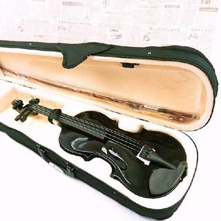 ブラック ヴァイオリンセット 楽器 音楽 ゆうパック