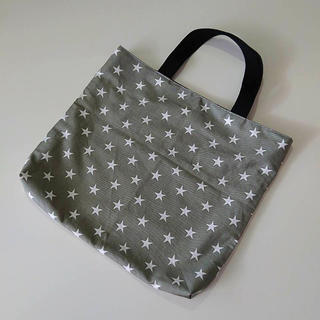 ハンドメイド 絵本袋 手提げ袋 レッスンバッグ バッグ 絵本バッグ 星 スター(バッグ/レッスンバッグ)