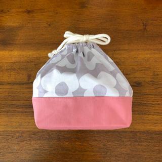 【コーラルピンク ×フラワー】お弁当袋(バッグ/レッスンバッグ)