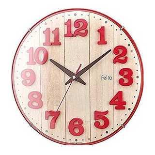 Felio 掛け時計 レッド(掛時計/柱時計)