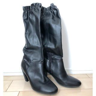 カンペール(CAMPER)の【新品未使用】カンペール レザーロングブーツ  黒 37 23.5cm(ブーツ)