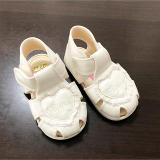 幼児用サンダル 13cm 白(サンダル)