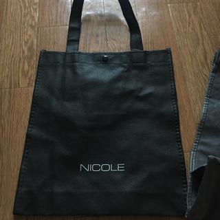 ニコル(NICOLE)の未使用☆NICOLE 不織布 ショッパー(ショップ袋)