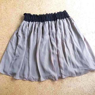 ジーユー(GU)の試着のみ✩︎GU スカート  Mサイズ グレー(ひざ丈スカート)