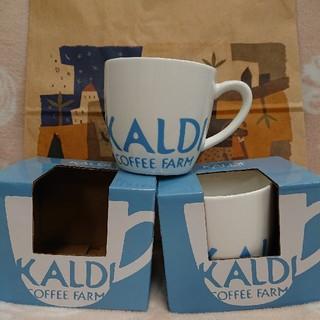 カルディ(KALDI)のカルディ  マグカップ  2個セット   スープカップにも  (グラス/カップ)