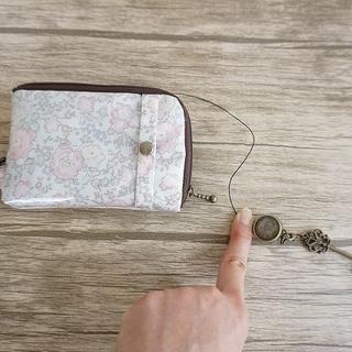 リールキー内蔵パスポケット付コインケース参考画像(財布)