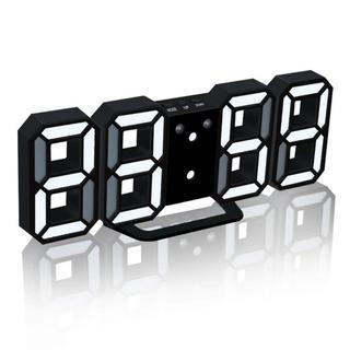 新品送料込み★LEDデジタル時計 3Dデザイン【黒】 186(掛時計/柱時計)