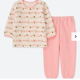 ユニクロ(UNIQLO)の【新品】ユニクロ キルトパジャマ 長袖 80(パジャマ)