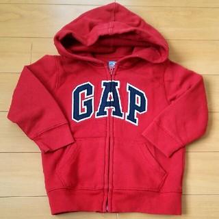ギャップ(GAP)の GAP 100㎝ パーカー 赤色(パーカー)