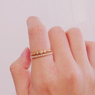 エナソルーナ(Enasoluna)のエナソルーナK10パールエタニティリング(リング(指輪))