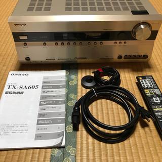 オンキヨー(ONKYO)のONKYO 7.1ch AVアンプ TX-SA605 ゴールド(アンプ)