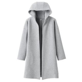 MUJI (無印良品) - 新品 無印良品 綿混二重編みフード付きコート