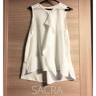 サクラ(SACRA)のSACRA ノースリーブブラウス(シャツ/ブラウス(半袖/袖なし))