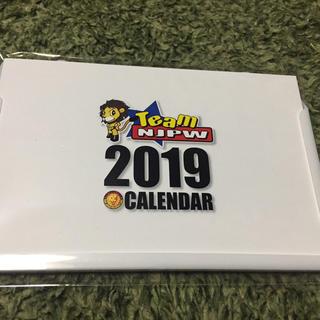 新日本プロレス 2019卓上カレンダー(格闘技/プロレス)