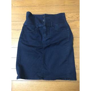 ジーユー(GU)のデニムタイトスカート(ミニスカート)