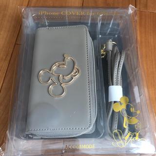 ディズニー(Disney)のミッキー お財布ショルダー スマホケース(iPhoneケース)