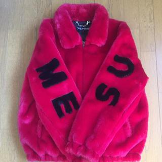 STUD HOMME - DUDE9系 supreme型 faux fur jacket