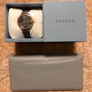 スカーゲン(SKAGEN)のSKAGEN レディース 腕時計と長財布セット(腕時計)