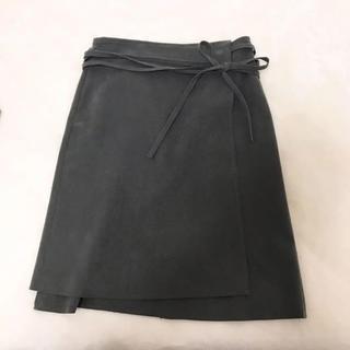 ジーヴィジーヴィ(G.V.G.V.)のG.V.G.V スウェード ラップスカート(ひざ丈スカート)