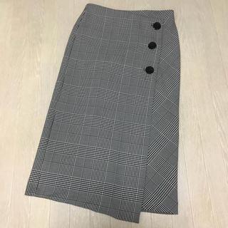 ザラ(ZARA)のZARA ザラ ☆ グレンチェック スカート Sサイズ 新品タグ付(ロングスカート)