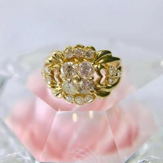 K18 ダイヤモンドリング 指輪 約12号 イエローゴールド 18-5517(リング(指輪))