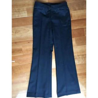 クイーンズコート(QUEENS COURT)のクイーンズコート ウール パンツ 黒 サイズ2 M(カジュアルパンツ)