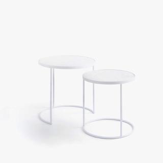ザラホーム(ZARA HOME)の新品 ZARA HOME ザラホーム ホワイトベースマーブルテーブル 2卓セット(コーヒーテーブル/サイドテーブル)