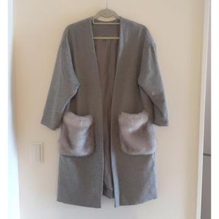 ジーユー(GU)の美品💖G.Uポケットファーコート(毛皮/ファーコート)