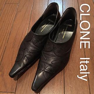 クローン(Clone)の☆美品【CLONE】フラットシューズ  39 (24.5〜25㎝)★ナッパレザー(ハイヒール/パンプス)
