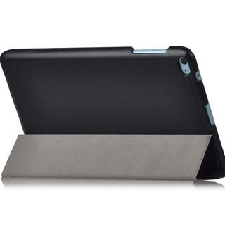 スタンド機能付Huawei au Qua tab 02 HWT31カバー黒(タブレット)
