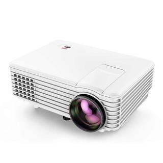 LED プロジェクター 1080PフルHD対応 800x480解像度 台形補正 (映像用ケーブル)