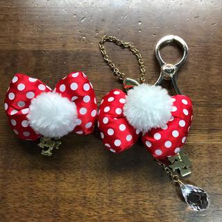 ディズニー(Disney)の新品 グローブクリップ ディズニー ミニー 手袋 グローブホルダー Disney(チャーム)