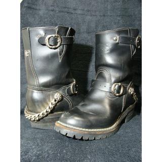 ウエスコ(Wesco)のWescoクロムハーツBOSSボスカスタムエンジニアブーツ靴(ブーツ)