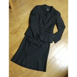 イネド(INED)のINED  スカートスーツ ブラック ジャケット7号 スカート5号(スーツ)
