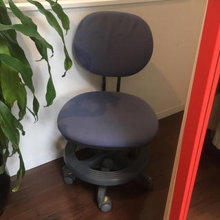 ニトリ(ニトリ)のジャンク品  ニトリ 学習椅子 ブルー(デスクチェア)