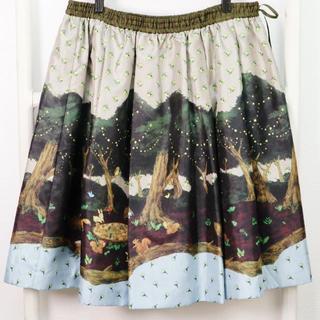 franche lippee -  フランシュリッペ森の動物たちの絵柄スカートFL5  大きいサイズ