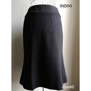 インディヴィ(INDIVI)の美品 INDIVI 美ラインスカート(ひざ丈スカート)