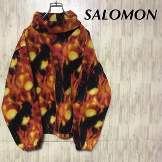 SALOMON - 美品 SALOMON フリースプルオーバー  インナーウェア
