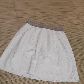 インディヴィ(INDIVI)の39)インディビ レーススカート38サイズ(ひざ丈スカート)