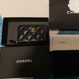 シャネル(CHANEL)の新品同様 シャネルCHANEL コインケース キャビア ブラック(財布)