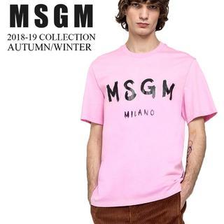 エムエスジイエム(MSGM)の【8】MSGM 18aw メンズ ピンク 半袖 Tシャツ size XS(Tシャツ/カットソー(半袖/袖なし))