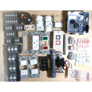 準備万端 平成30年度 第一種電気工事士技能試験練習用材料 器具.電線セット(資格/検定)