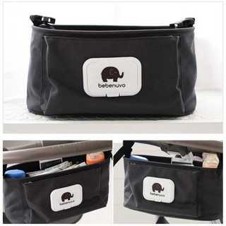 【人気♪】便利な ベビーカーバッグ 哺乳瓶ホルダー ポーチ 黒色 y47901(ベビーカー用アクセサリー)